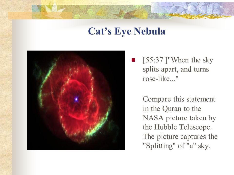 Cat's Eye Nebula [55:37 ] When the sky splits apart, and turns rose-like...